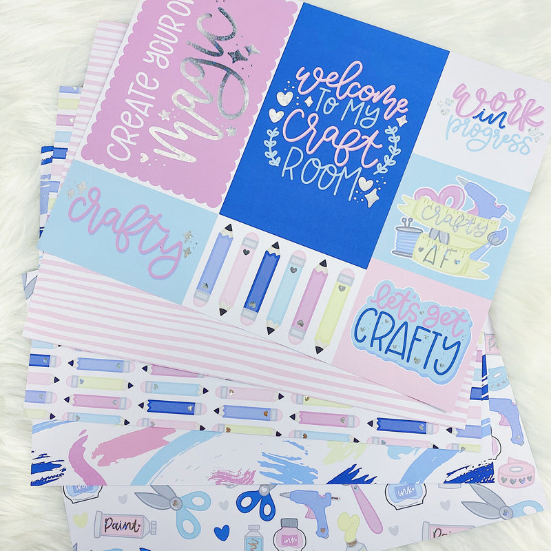 Crafty at Heart Papers + Acetates | Star Holo Foiled