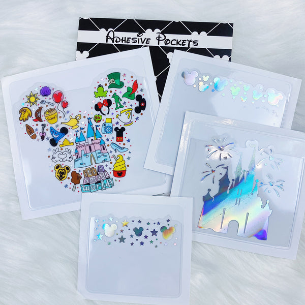 Tattoo Sidekicks Adhesive Pockets | Bundle of FOUR | Holographic Foiled