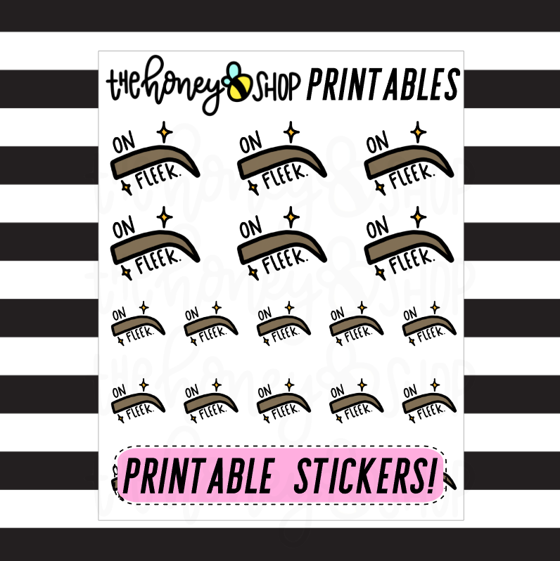 On Fleek Printable Stickers | DIGITAL DOWNLOAD