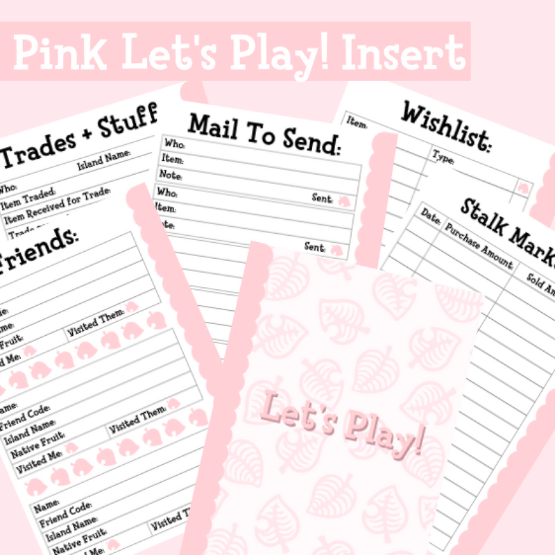 Pink AC Let's Play! Insert | CHOOSE YOUR SIZE | PRINTABLE INSERTS