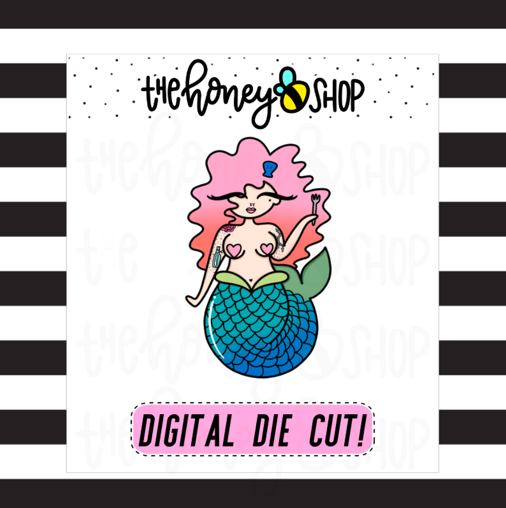 Mermaid 2.0 Babe | DIGITAL DOWNLOAD | PICK YOUR SKIN COLOR