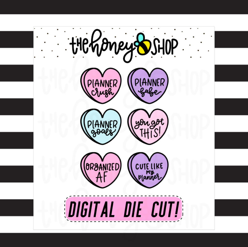 Planner Babe Convo Hearts | INCLUDES Color + Outline | DIGITAL DOWNLOAD