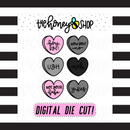 Anti-Vday Convo Hearts | INCLUDES Color + Outline | DIGITAL DOWNLOAD