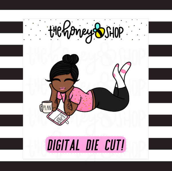 Chillin' + Plannin' Babe | DIGITAL DOWNLOAD | PICK YOUR SKIN TONE