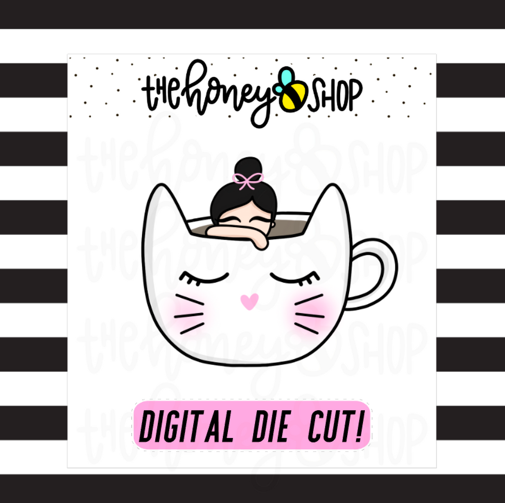 Kitty Mug Babe | DIGITAL DOWNLOAD | PICK YOUR SKIN COLOR