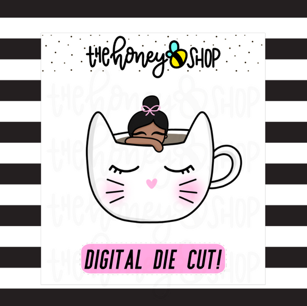 Kitty Mug Babe | DIGITAL DOWNLOAD | PICK YOUR SKIN TONE