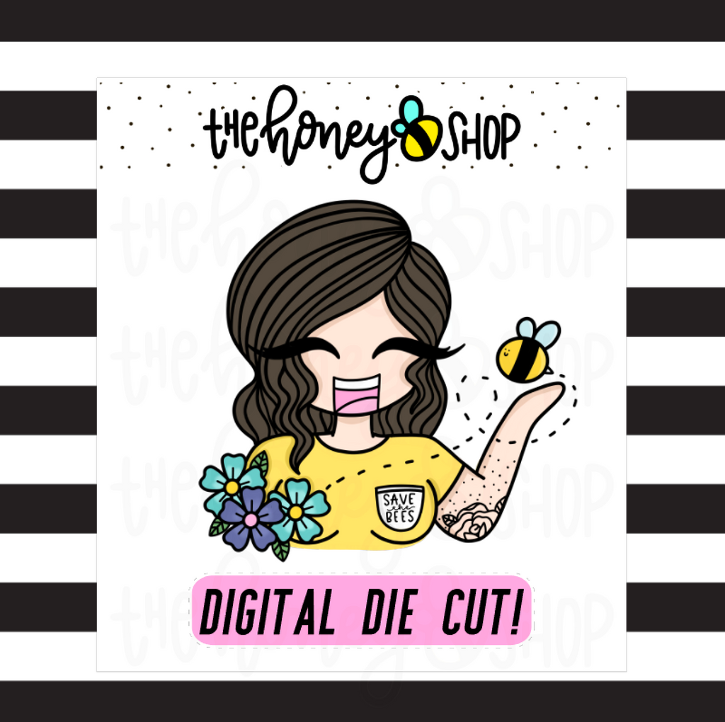 Save The Bees Babe | DIGITAL DOWNLOAD | PICK YOUR SKIN COLOR