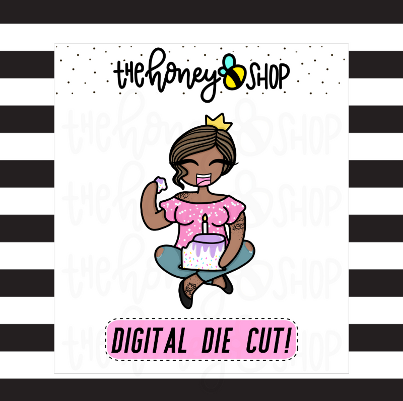 Birthday Babe | DIGITAL DOWNLOAD | PICK YOUR SKIN TONE