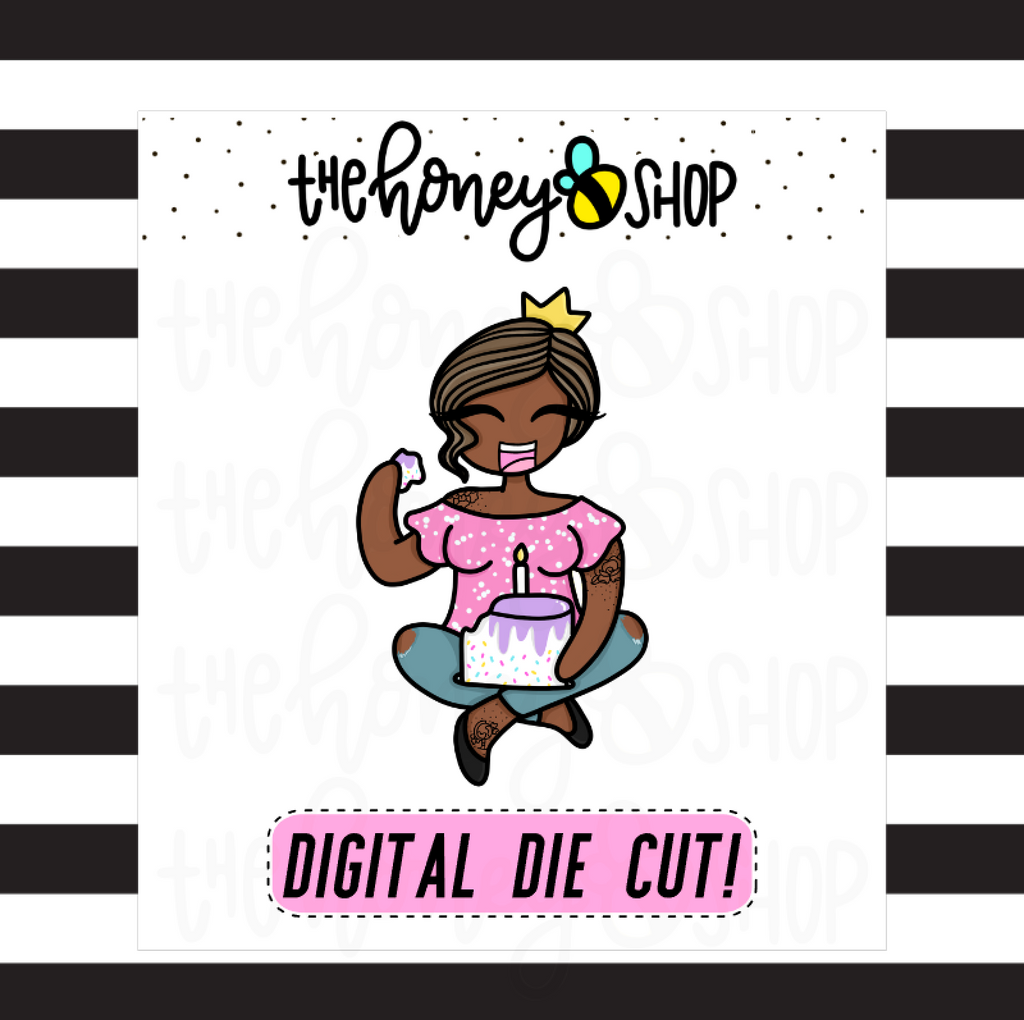 Birthday Babe | DIGITAL DOWNLOAD | PICK YOUR SKIN COLOR