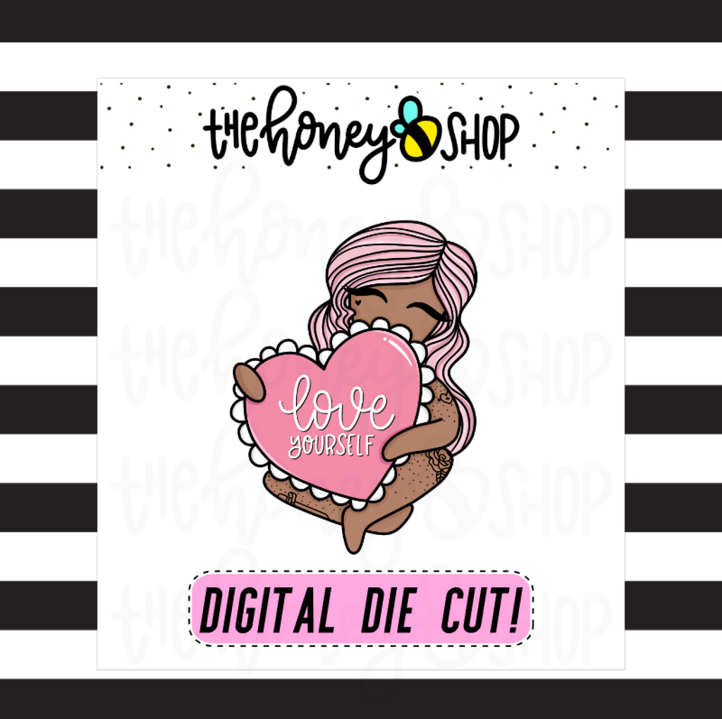 Love Yourself Babe | DIGITAL DOWNLOAD | PICK YOUR SKIN COLOR