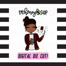 Red Wizard Planner Babe | DIGITAL DOWNLOAD | PICK YOUR SKIN TONE
