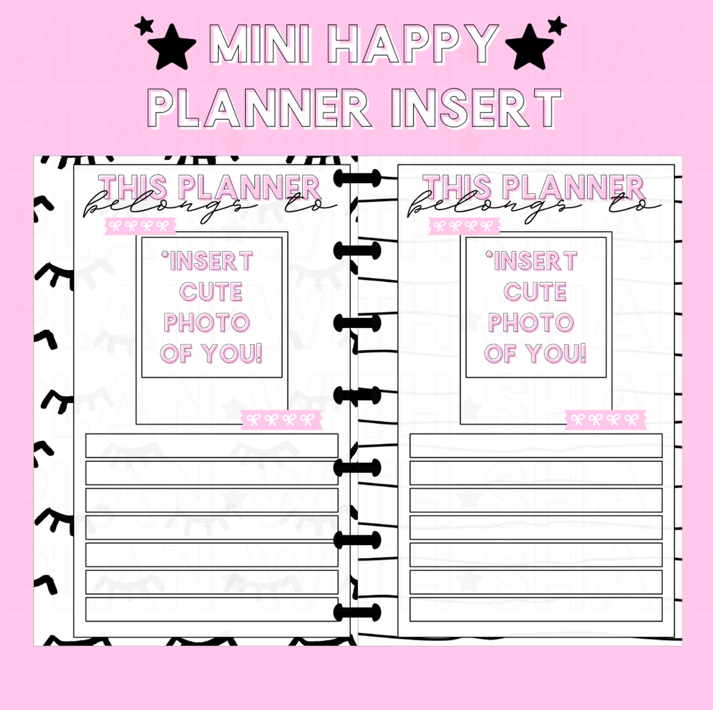 This Planner Belongs To Mini Happy Planner Insert
