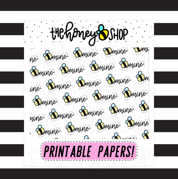 Bee Mine Paper |  DIGITAL DOWNLOAD