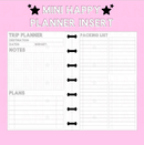 Trip Planner Mini Happy Planner Insert