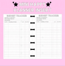 Budget Tracker Mini Happy Planner Insert