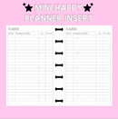 Checkbook Register Mini Happy Planner Insert