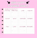 Celebrate Everyday Foldover Mini Happy Planner Insert
