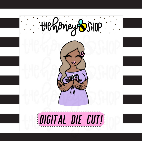 May Flowers Babe | DIGITAL DOWNLOAD | PICK YOUR SKIN TONE