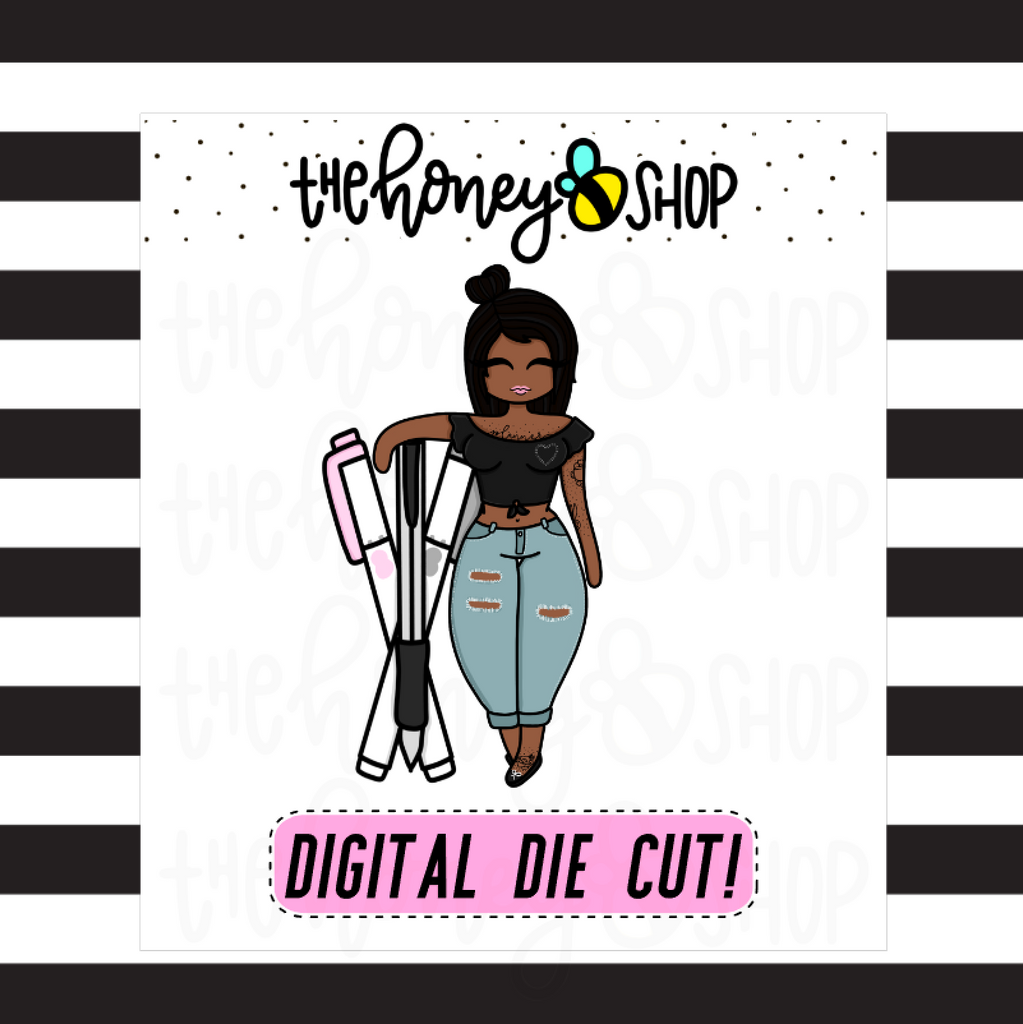 Planner Pens Babe | DIGITAL DOWNLOAD | PICK YOUR HAIR + SKIN COLOR