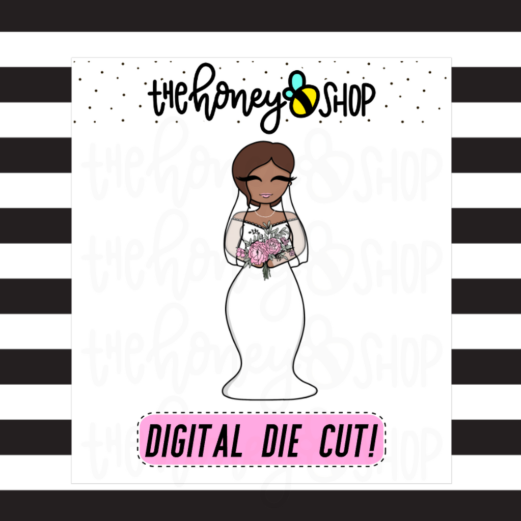 Bride Babe | DIGITAL DOWNLOAD | PICK YOUR HAIR + SKIN COLOR