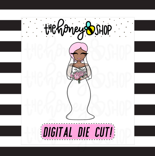 Bride Babe | DIGITAL DOWNLOAD | PICK YOUR HAIR + SKIN TONE