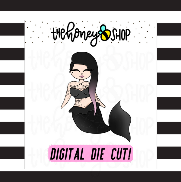 Dark Mermaid Babe | DIGITAL DOWNLOAD | PICK YOUR SKIN TONE