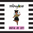 Queen Bee Babe | DIGITAL DOWNLOAD | PICK YOUR SKIN TONE