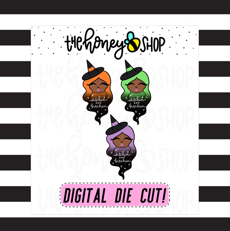Traditional Withcin' + Bitchin' Babe | DIGITAL DOWNLOAD | PICK YOUR SKIN TONE