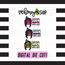 Traditional Broom Hair, Don't Care Babe | DIGITAL DOWNLOAD | PICK YOUR SKIN COLOR