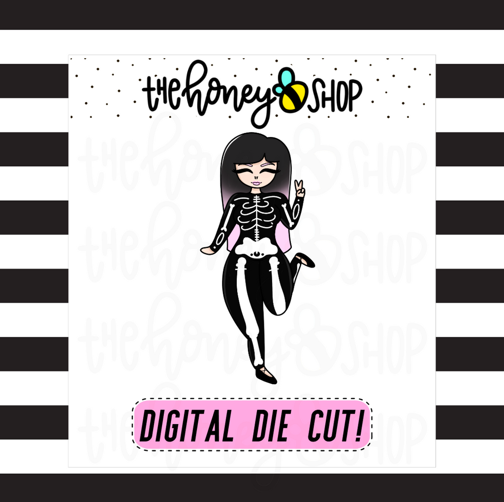 Skeleton Babe | DIGITAL DOWNLOAD | PICK YOUR SKIN COLOR
