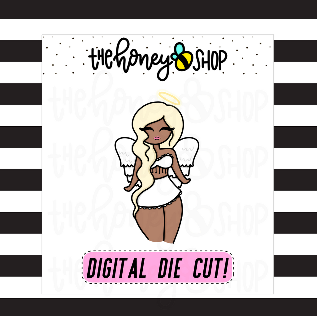 Angel Babe | DIGITAL DOWNLOAD | PICK YOUR SKIN COLOR