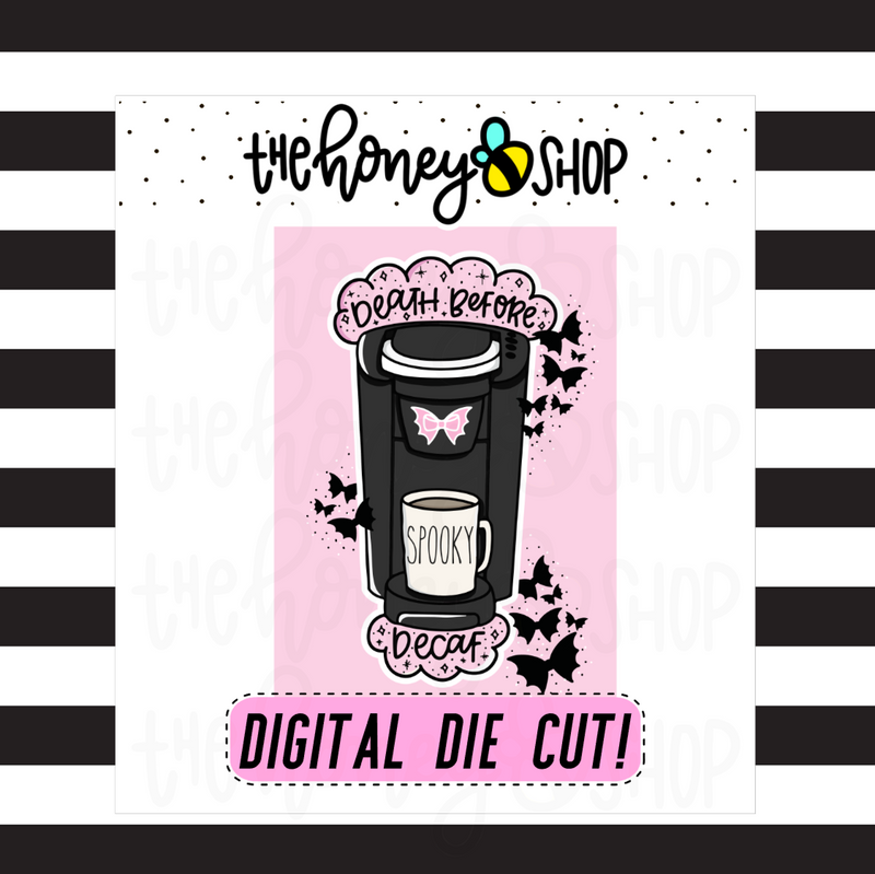 Death Before Decaf Journal Card | DIGITAL DOWNLOAD