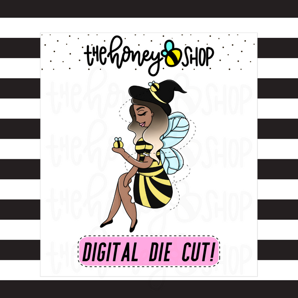 Bee-Witch | INKTOBER DAY 3 | DIGITAL DOWNLOAD | PICK YOUR SKIN TONE