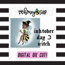 Bee-Witch | INKTOBER DAY 3 | DIGITAL DOWNLOAD | PICK YOUR SKIN COLOR