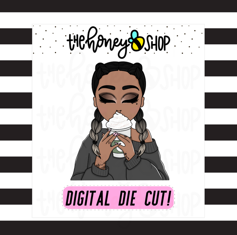 Frappuccino Babe | DIGITAL DOWNLOAD | PICK YOUR SKIN TONE