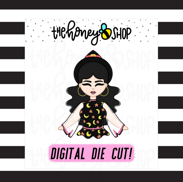 70's Witch Babe | DIGITAL DOWNLOAD | PICK YOUR SKIN TONE