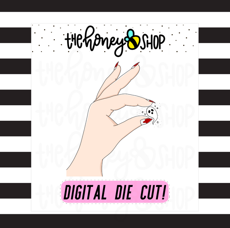 Tiny Ghost | DIGITAL DOWNLOAD | PICK YOUR SKIN TONE