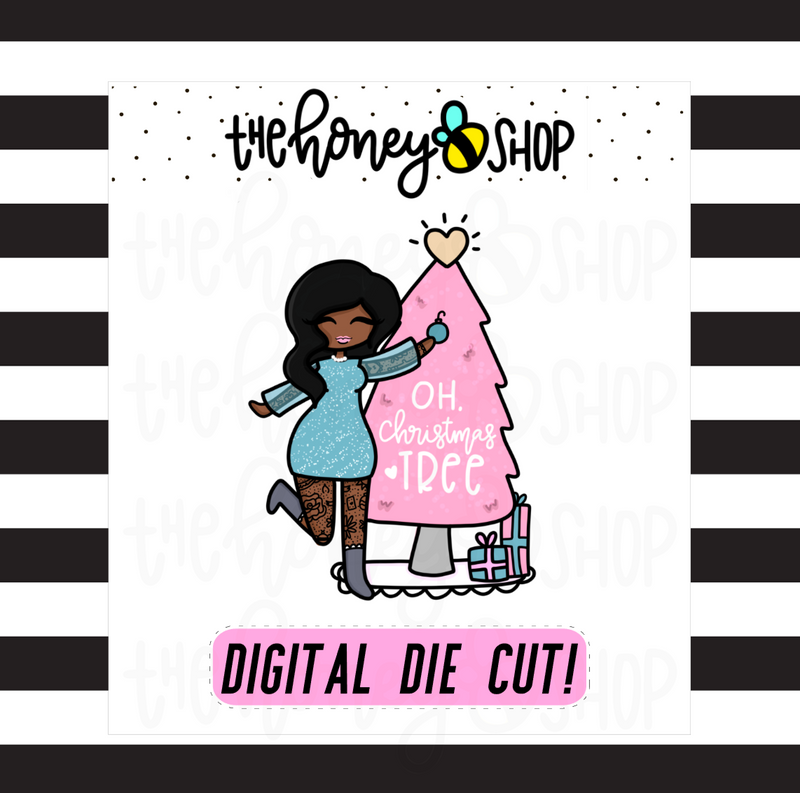 Pastel Oh, Christmas Tree Babe | DIGITAL DOWNLOAD | PICK YOUR SKIN TONE