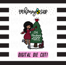 Traditional Oh, Christmas Tree Babe | DIGITAL DOWNLOAD | PICK YOUR SKIN TONE