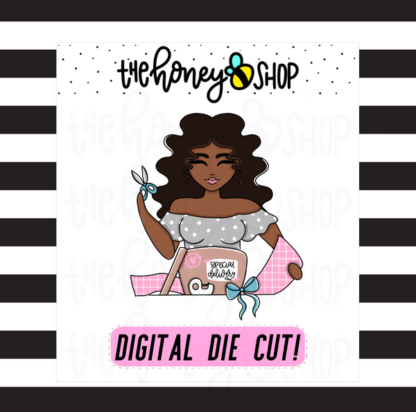 Pastel Wrapping Babe | DIGITAL DOWNLOAD | PICK YOUR SKIN TONE