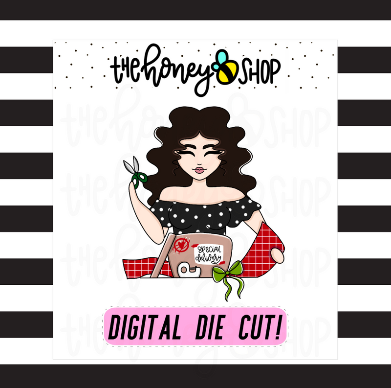 Traditional Wrapping Babe | DIGITAL DOWNLOAD | PICK YOUR SKIN TONE