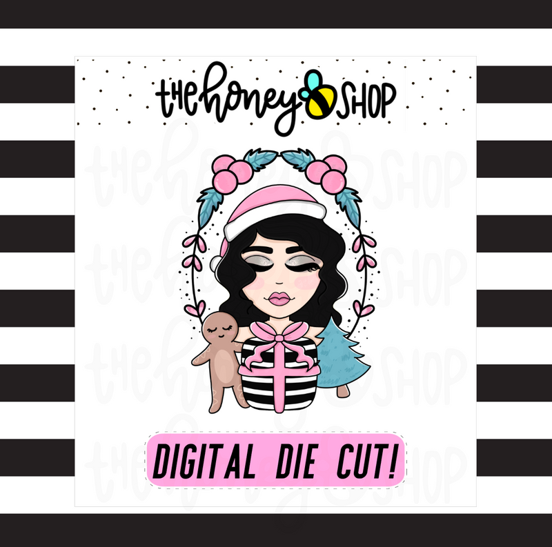 Pastel Wreath Babe | DIGITAL DOWNLOAD | PICK YOUR SKIN TONE