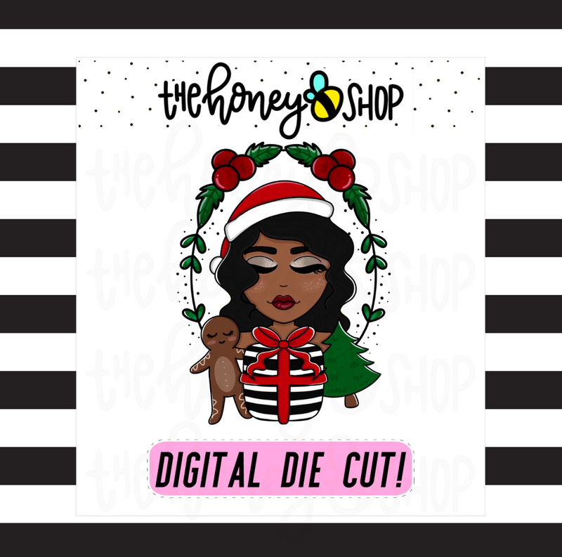 Traditional Wreath Babe | DIGITAL DOWNLOAD | PICK YOUR SKIN TONE