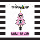 Pastel Christmas Tree Babe | DIGITAL DOWNLOAD | PICK YOUR SKIN TONE