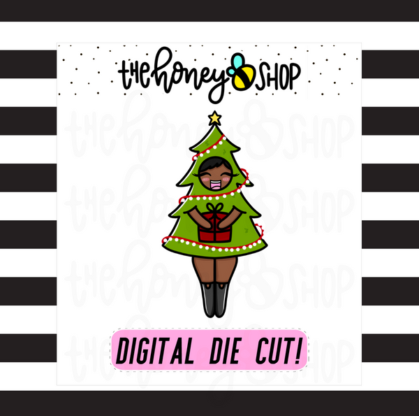 Traditional Christmas Tree Babe | DIGITAL DOWNLOAD | PICK YOUR SKIN TONE