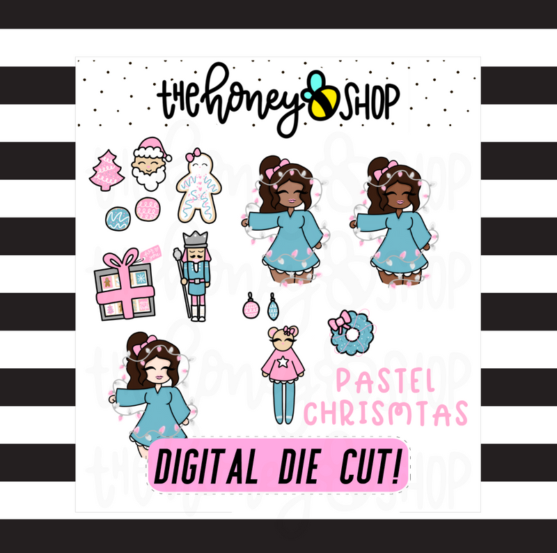 Pastel Christmas Digi Pack | DIGITAL DOWNLOAD | ALL SKIN TONES INCLUDED