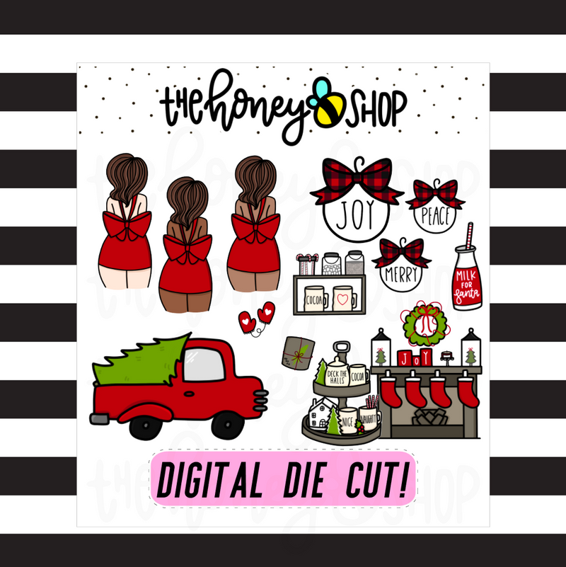 Traditional Christmas Digi Pack | DIGITAL DOWNLOAD | ALL SKIN TONES INCLUDED