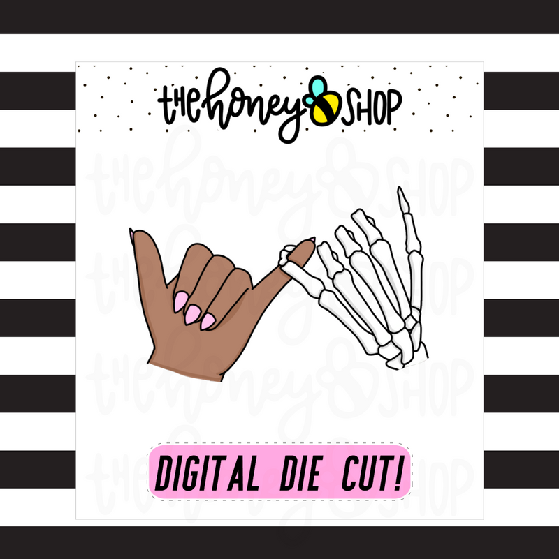 Skeleton Pinky Promise | DIGITAL DOWNLOAD | PICK YOUR SKIN TONE