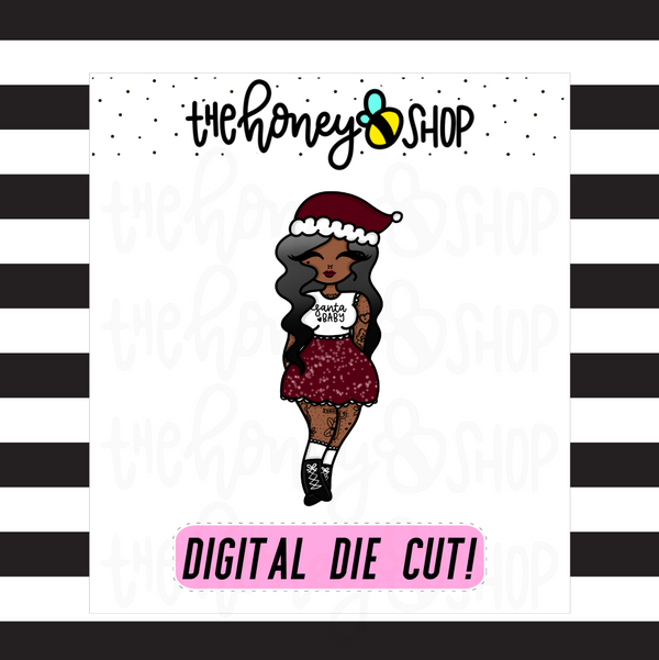 Santa Baby Babe | DIGITAL DOWNLOAD | PICK YOUR SKIN TONE