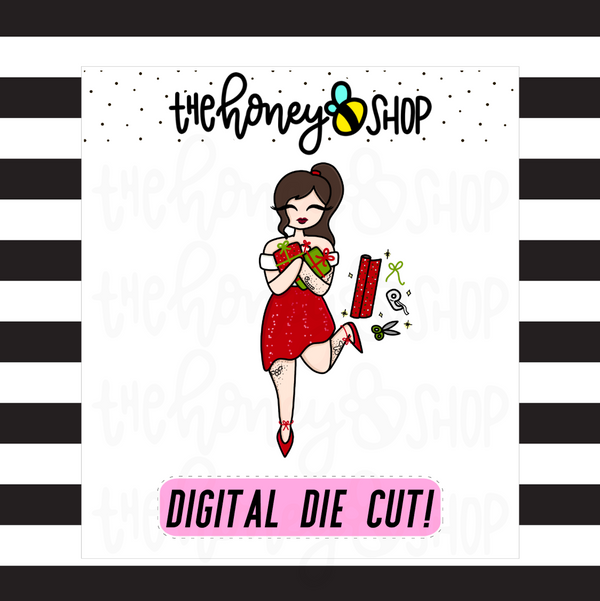 Present Wrapping Babe | DIGITAL DOWNLOAD | PICK YOUR SKIN TONE